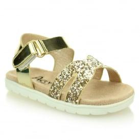 3297a3029f5 Gold Kids Shoes  UK9-EU27 Aarz London Girls Shoes