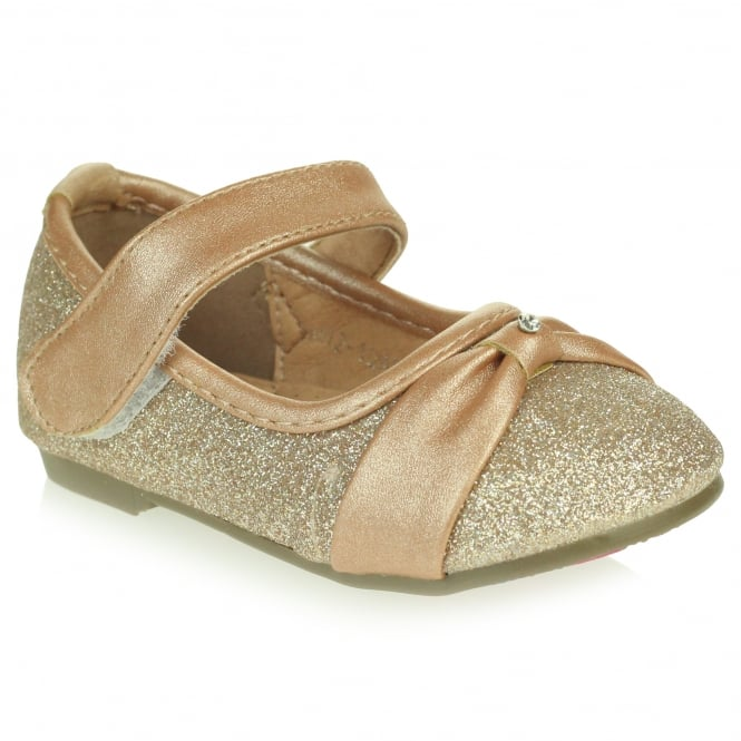 Alma- Gold Sparkly Shoes