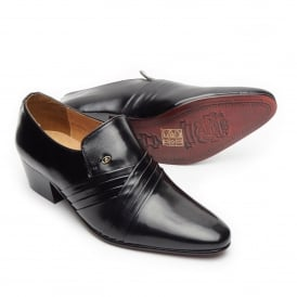 Alvin- Pleated Leather Shoe