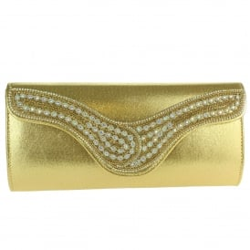 Betsy- Scalloped Flap Clutch