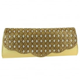 Casey- Diamante Flap Clutch