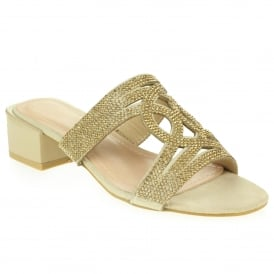 1e9048803708 Aarz London Chloe- Dazzling Diamante Sandal