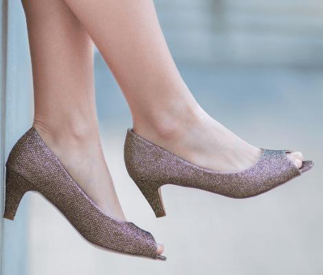 Gold Glitter Platform High Heels Asian Bride Indian Wedding