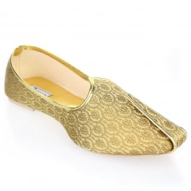 Donald- Patterned Gold Pump