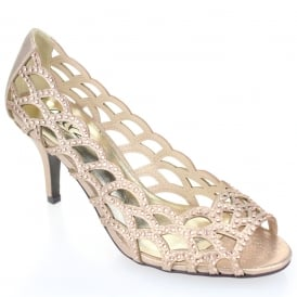 Gold Colour: Champagne High Heel Shoes