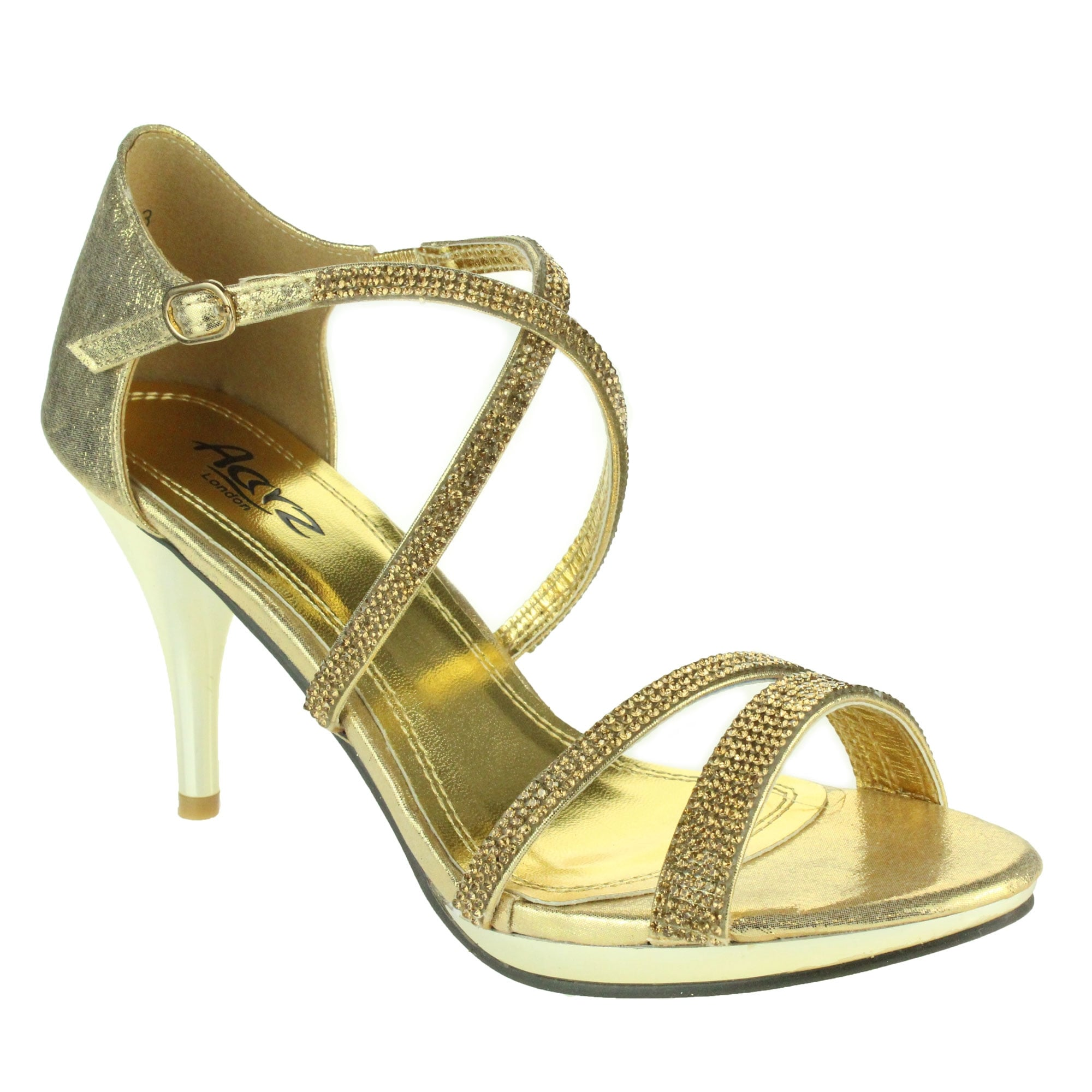 bf069e923b Aarz London Frances- Platform Cross-strap Sandals