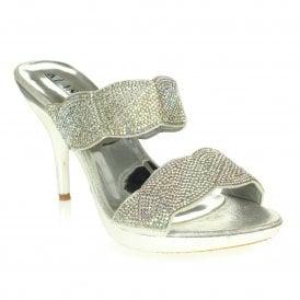 cf207ac059e Aarz London Kenya- Glittery Double-strap Heels