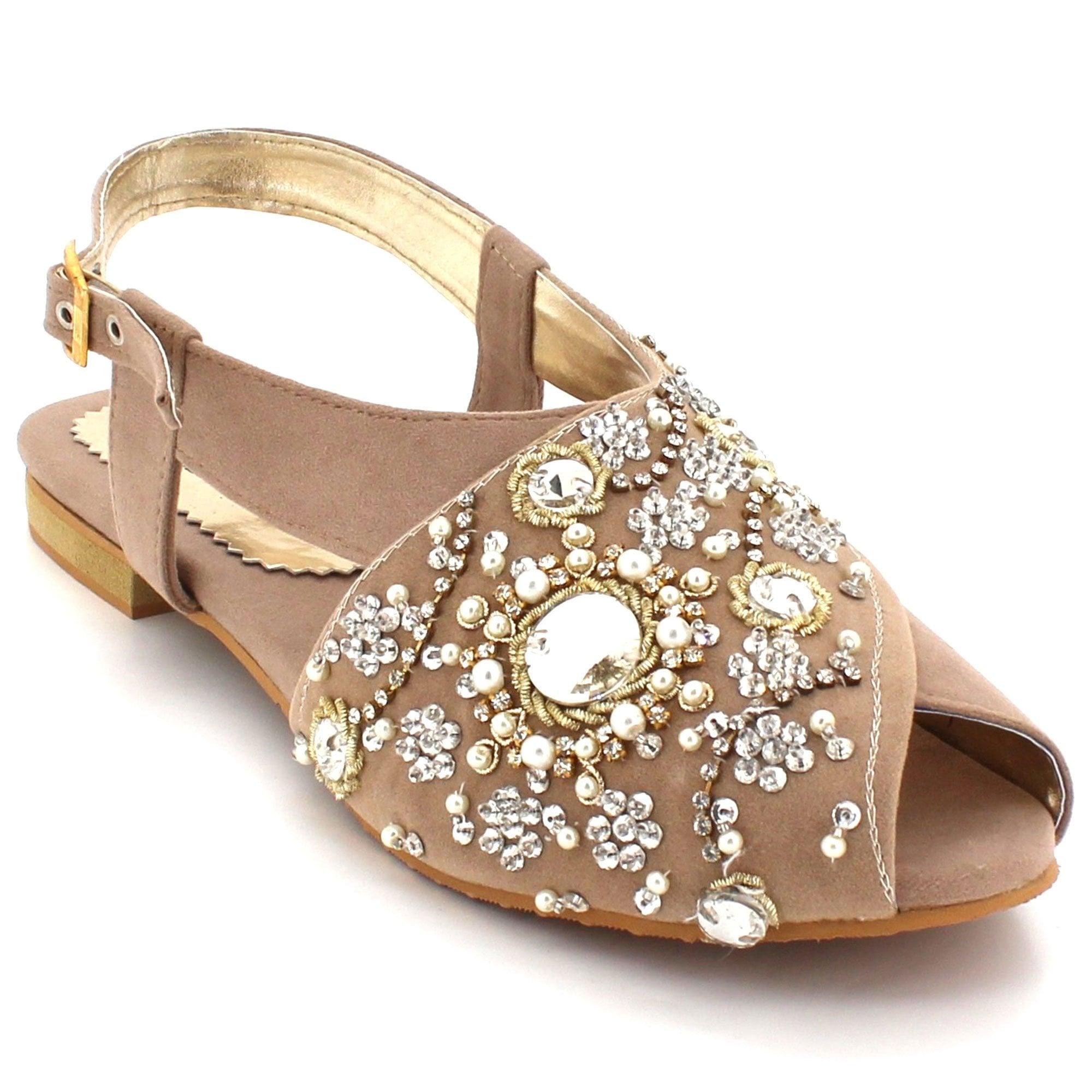 3e78525ed6b Lolita- Embellished Peep-toe Sandals