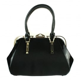 Lotus- Black Fashion Handbag