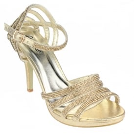 0b8294711b Aarz London Mercia- Detail Open Toe Platform · Ladies High Heel Ankle-strap  Sandal