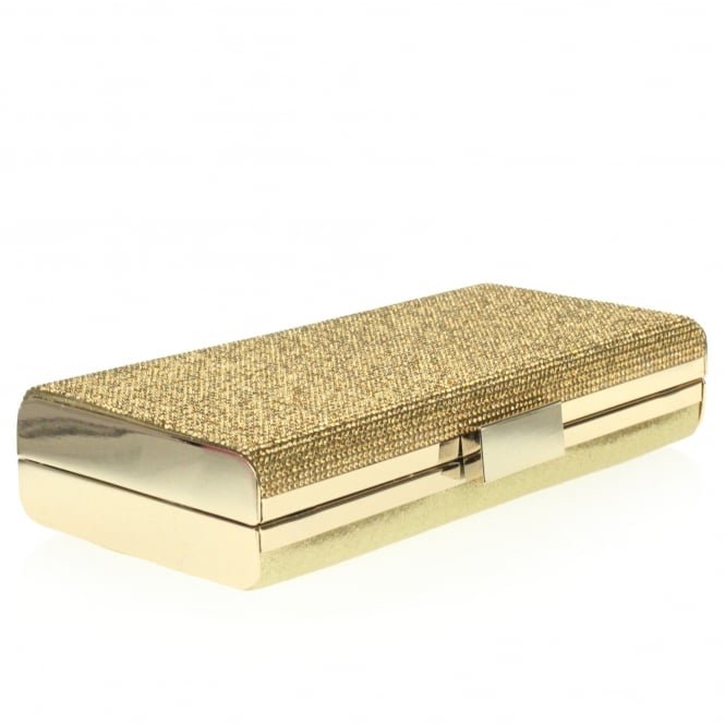 Roselyn- Rhinestones Hard-case Clutch